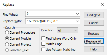 Polish and other non-ASCII special characters in VBA and Excel's